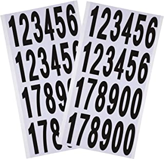 10 Sheets Numbers Stickers Mailbox Numbers Self Adhesive Vinyl Numbers for Residence and Mailbox Signs (3 Inch)