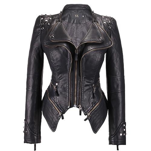 3e5646688 Studded Leather Jacket: Amazon.com