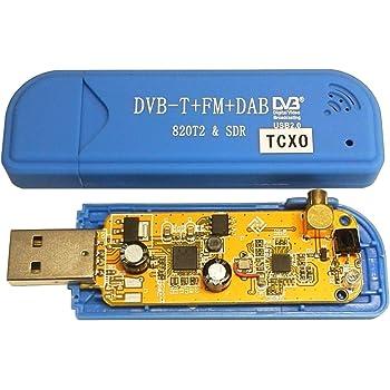 R820T2 & SDR+TCXO(温度補償型水晶発信器±0.5PPM)実装カスタムチューナー単品Blue[RTL2832U+R820T2][広帯域受信用][High quality USB-CN][RTL-SDR専用]