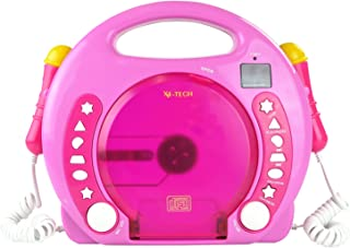X4-TECH Bobby Joey MP3 Children's CD Player Pink