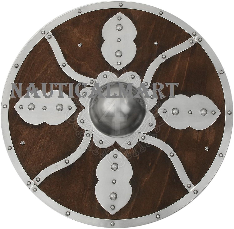 NAUTICALMART Medieval Wooden Round Shield