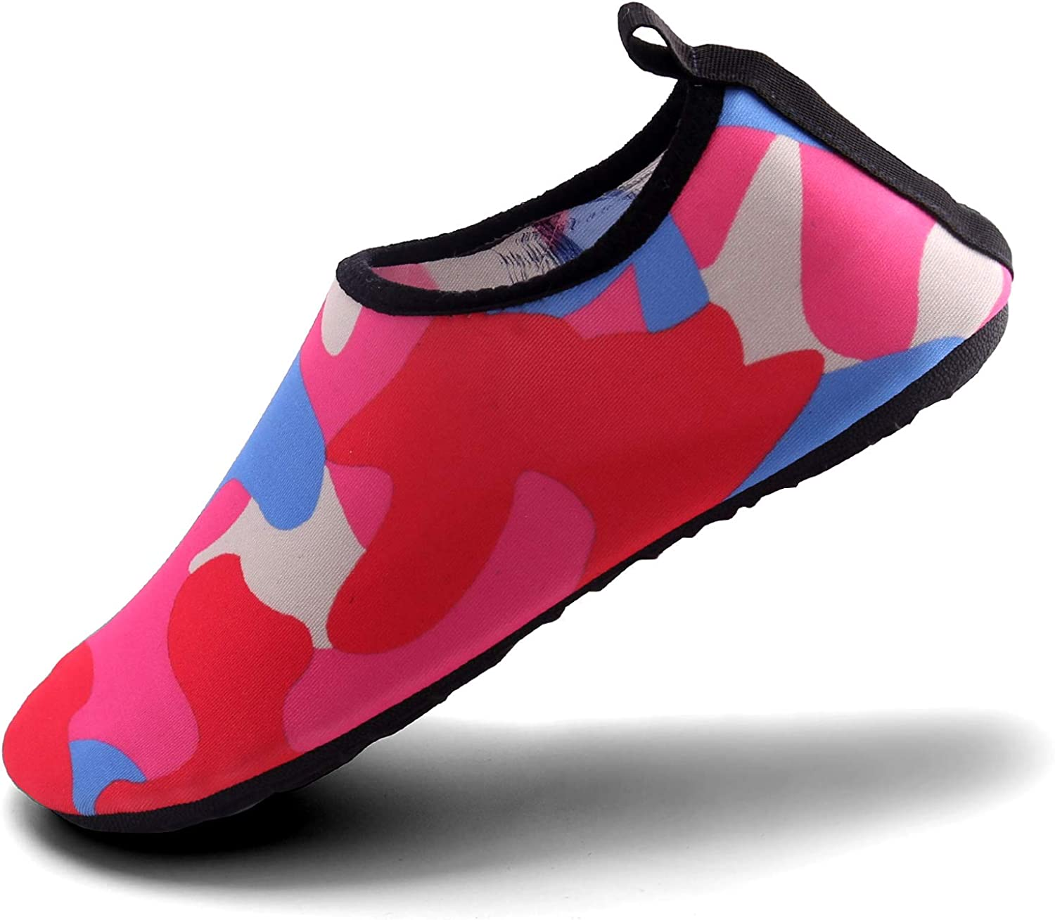Aslipper Womens and Mens Summer Outdoor Water shoes Aqua Socks for Beach Swim Surf Yoga Exercise (S(W 5.5-6.5,M 5-5.5), Pink2)