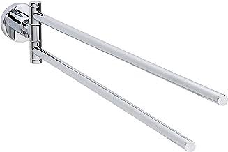 tesa Loxx twee-armige handdoekhouder, hoogglans verchroomd metaal, zelfklevend, 85 mm x 50 mm x 485 mm