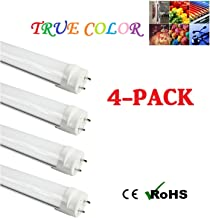 (4-Pack) Fulight Full-Spectrum T8 LED Tube Light - 4FT 48-Inch, 18W (32W Equivalent), Soft White 3000K, F32T8, F34T12/WW, Double-End Powered, Frosted Cover, with 95CRI