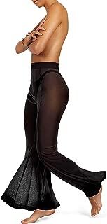 Mesh Swimsuit Cover Up Pants for Women Sheer Beach Sexy Swimwear Coverup Pant See Through Swim Bikini Bathing Suit