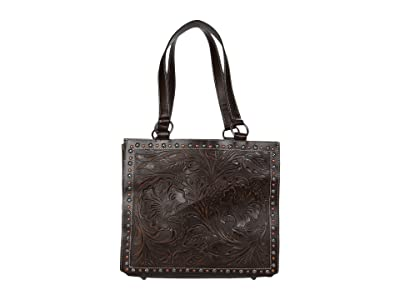 M&F Western Blaire Tote (Brown) Handbags