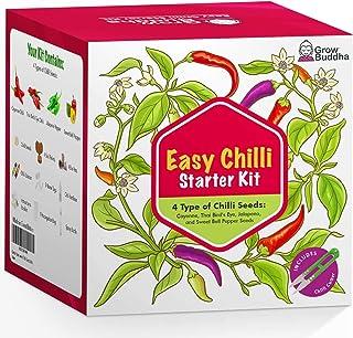 Eigenes Saatgutset züchten - Einfach eigene Pflanzen züchten mit unseren einsteigerfreundlichen Anzuchtsets - Samen-Set - Geschenkset, einzigartige Geschenkidee 5 Chili-Kit