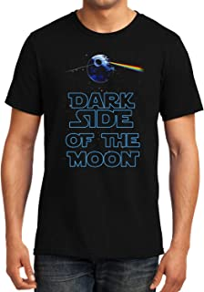 GeekDawn Graphic Printed T-Shirt|Death Star|Star Wars|Pink Floyd|Dark Side of The Moon T-Shirt|Funny Quote T-Shirt|Geek T-Shirt|Music T-Shirt|Half Sleeve Round Neck|100% Cotton T-Shirt|Gifting