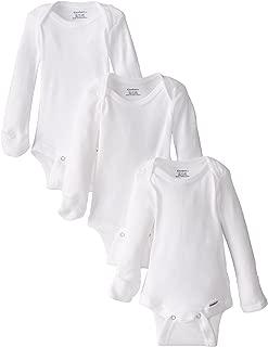 Gerber 3 Pack Long-Sleeve Onesies with Mitten Cuffs bodis de bebé e Infantiles para Bebé-Niñas
