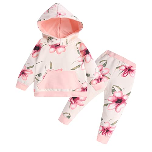 1c667560 Kidsform Infant Baby Hoodie Outfits Set Floral Tops And Pants 2 Pcs Long  Sleeve Tracksuit Toddler