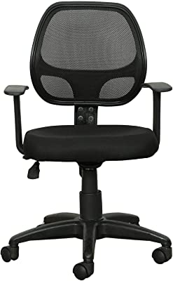 TREO Furniture Ergonomic Height Adjustable Medium Back Revolving Chairs for Office|Computer | Armrest Chair | Study Chair |Home|