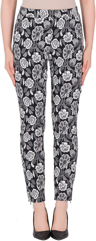 Joseph Ribkoff  184836 Woman's Floral Jacquard Printed Pant