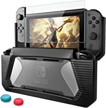 AISITIN Nintendo Switch Case with Screen Protector, TPU Protective Heavy Duty Cover Case for Nintendo Switch with Shock-Absorption and Anti-Scratch (Black)
