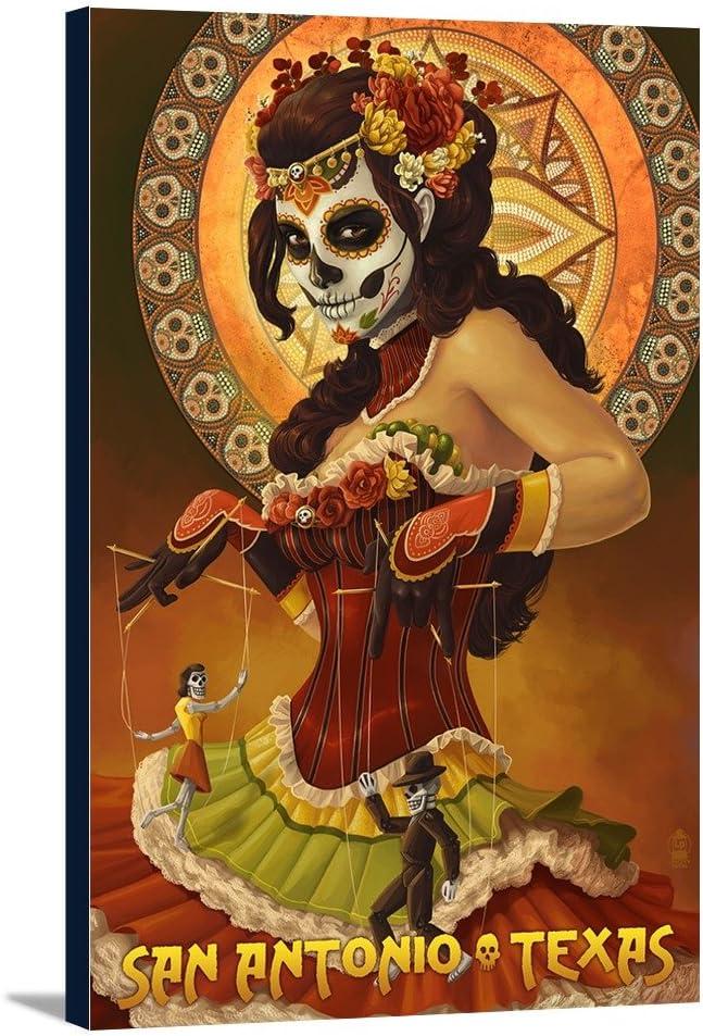 store San Antonio Texas Dia De Muertos Marionettes Galler Oklahoma City Mall Los 12x18
