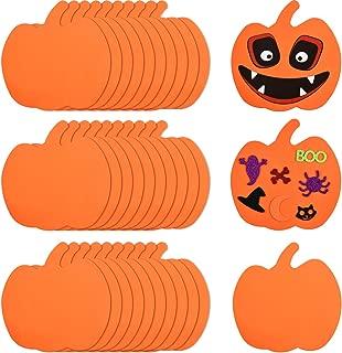 Outus 30 Pieces Foam Halloween Pumpkins Foam Pumpkin Shapes Halloween Craft Kit for Halloween Kids Craft Party Decorations