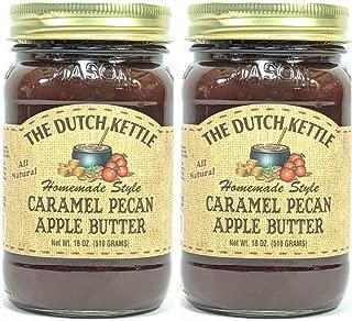 The Dutch Kettle Amish Homemade Style Caramel Pecan Apple Butter 2 - 18 Oz Reusable Jars