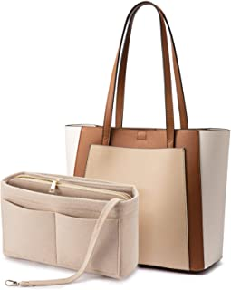 Handbags for Women Shoulder Tote Bags Satchel with Purse Organizer Insert