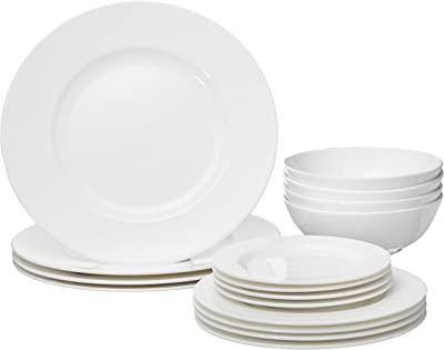 Lenox 16 Piece Classic White Dinnerware Set