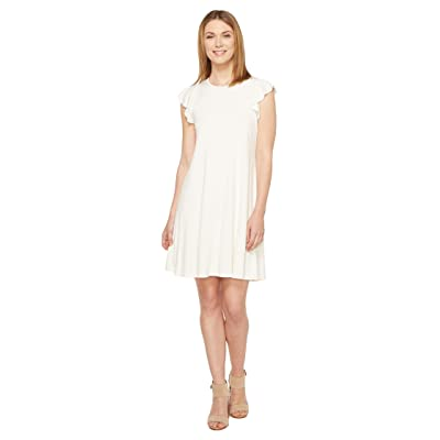 Three Dots Flounce Dress (Gardenia) Women