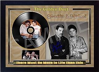 Freddie Mercury Queen LIVE AID WEMBLEY STADIUM 13 LUGLIO 1985 Mini CD in vinile dorato con cornice SGH SERVICES NEW