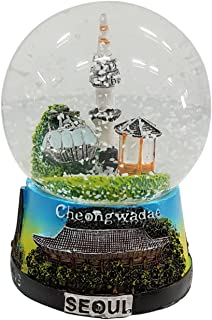 Crystal Design Namsan Seoul Tower Snow Globe Medium Korea Miniature Building