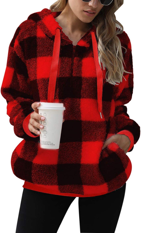 Nirovien Womens Tie Dye Sherpa Pullover Fuzzy Fleece Hoodie Oversized Fluffy Sweatshirt with Pockets