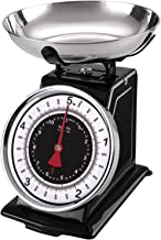 Starfrit 080211-003-0000 RA43433 Retro Mechanical Kitchen Scale, 8.9X 8.9X 7.7, Silver