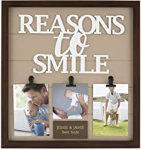 Things Remembered Personalized Reasons to Smile 3-Clip Wall Art Frame with Engraving Included