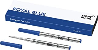 Montblanc Ballpoint Pen Refills (M) Royal Blue 124493 – Refill Cartridges with a Medium..
