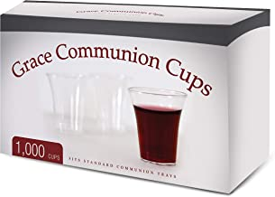 Grace Communion Cups - Box of 1000 - Plastic Disposable Fits Standard Holy Communion Trays