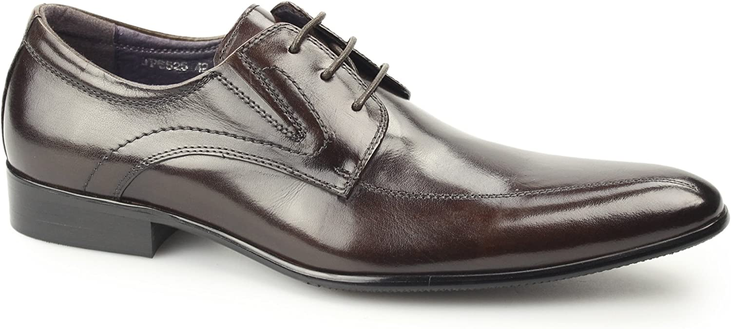 Gucinari Hamilton Mens Leather Lace-Up Pointed shoes Brown