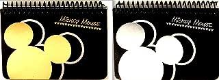 MICKEY MOUSE BLACK SPIRAL AUTOGRAPH BOOKS - (2 Books Set) (BIGHEAD)