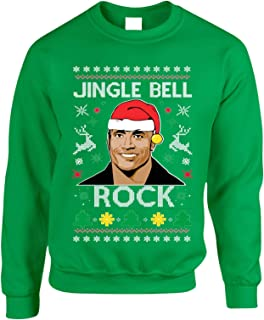 Allntrends Adult Sweatshirt Jingle Bell Rock Trendy Ugly Christmas Holiday Party
