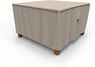 Budge P5A09PM1 English Garden Square Patio Table Cover Heavy Duty and Waterproof, Medium, Two-Tone Tan