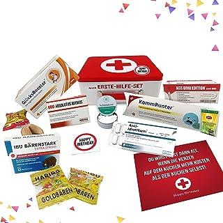 Geburtstagsgeschenk - Aller Erste Hilfe Set Geschenk-Box, witziger Sanikasten | Das Original | Scherzartikel zum Geburtstag Deutsch