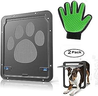 ABC Dog Door Screen Door, Pet Screen Door,Automatic Lock/Lockable,Black