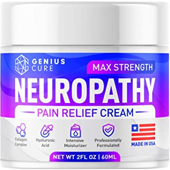 Neuropathy Nerve Pain Relief Cream - Maximum Strength Relief Cream for Foot, Hands, Legs, Toes Includes Arnica, Vitamin B6, Aloe Vera, MSM - Scientifically Developed for Effective Relief 2oz