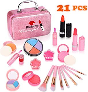 Biulotter 21pcs Kids Makeup Kit for Girls Real Kids Cosmetics Make Up Set with Cute Cosmetic Bag, Eyeshadow/Lip Gloss/Blus...