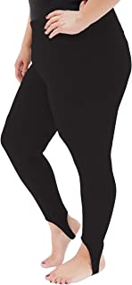 Oh So Soft High Waist Stirrup Leggings, Lightweight and Durable, in Multiple Colors for Plus Size Women