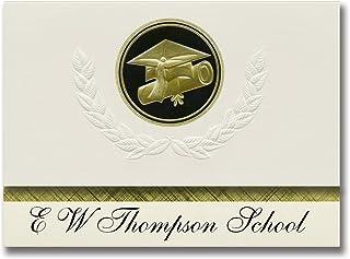 Signature Announcements E W Thompson School (Sedalia, MO) Graduation Announcements, Presidential style, Elite package of 2...