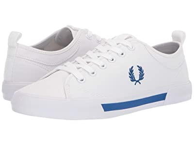 Fred Perry Horton Canvas (White/Mid Blue) Men
