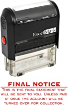 Final Notice Final Statement - Self Inking Bill Collection Stamp in Red Ink