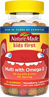 Nature Made Kids First Multi + Omega-3 Gummies, 70 Count for Daily Nutritional Support† (Packaging May Vary)