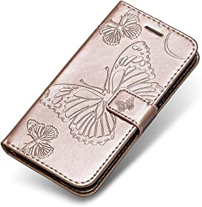 Galaxy 2016 Case  The Grafu  Wallet Bookstyle Leather Shockproof Stand Case with Card Slots and Magnetic Closure for Samsung Galaxy 2016  Rose Gold