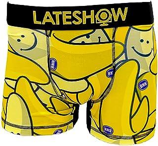 LATESHOW (レイトショー) メンズ ローライズ ボクサーパンツ NICE TO SEE YOU 吸水速乾 特許製法の消臭効果 パンツ ブリーフ ブランド 男性 下着 ボクサー