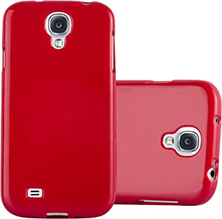 Cadorabo Case Works with Samsung Galaxy S4 in Jelly RED – Shockproof and Scratch Resistant TPU Silicone Cover – Ultra Slim Protective Gel Shell Bumper Back Skin