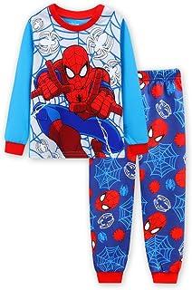 (スマートキッズ) SMARTKIDS長袖スパイダーマン 男の子パジャマ上下セット水色&赤色