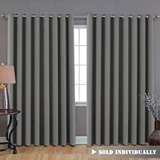 H.VERSAILTEX Blackout Patio Grey Curtains, Extra Long and Wider (100
