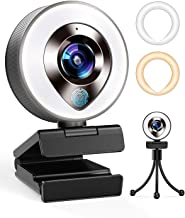 2021 CASECUBE FHD 1080P Webcam with Microphone and Ring Light,Plug and Play Web Camera,Adjustable...