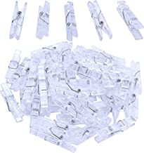 Jdesun 50 Pieces Photo Clips,Mini Plastic Picture Paper Clip Clothespins Peg for Office,Home,Arts